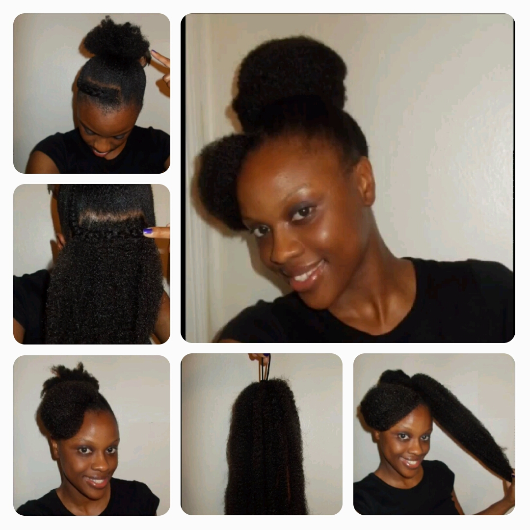 Crochet Braids With Marley Hair Updo Crochet The Marley Hair Into